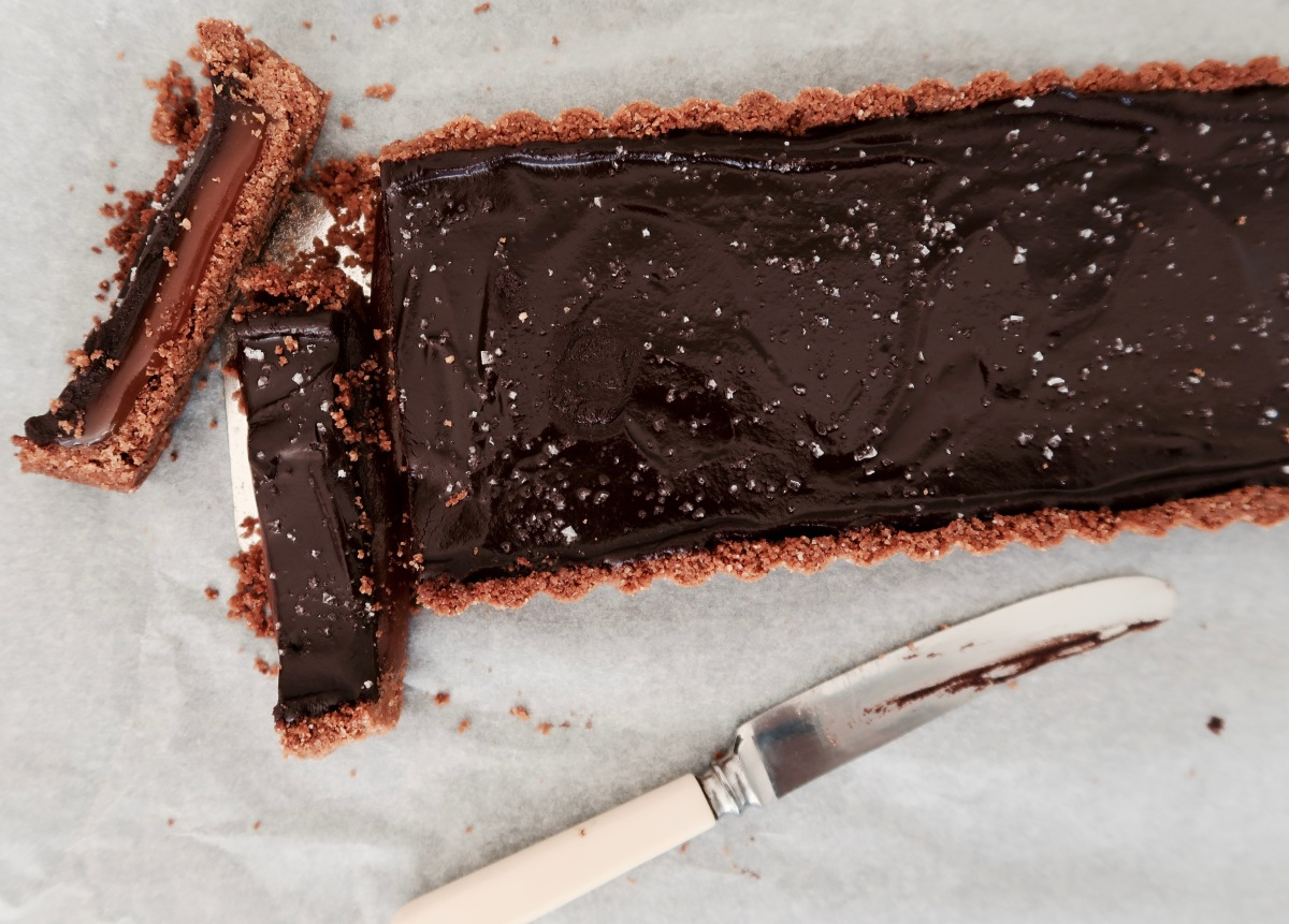 Chocolate & Salted Caramel Slice