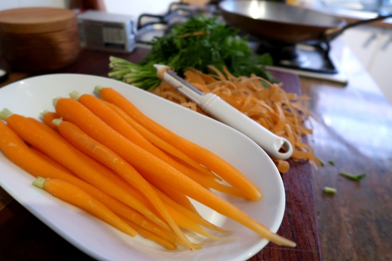 Maple Carrots Prep