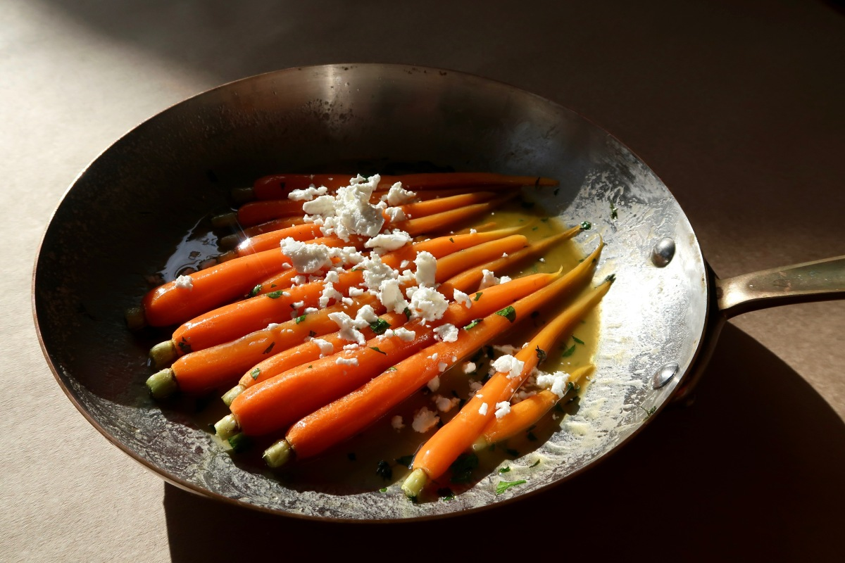 Sautéed Carrots with Maple Butter & Goats Cheese *AKA The Best Carrots You Will Ever Eat