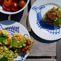 Summer Guacamole with Charred Corn