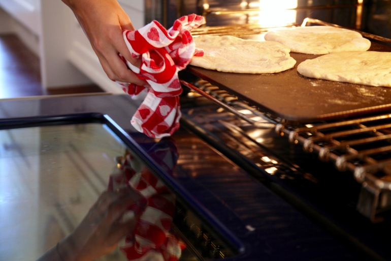 Flat Breads-Hand in Oven