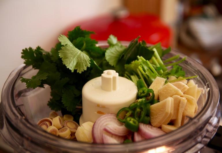 Thai Green Curry Paste- in blender
