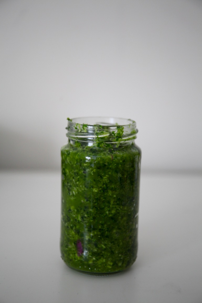 Thai Green Curry Paste- veticle