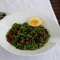 Fresh Pea Salad with Bacon & Parsley