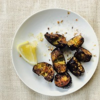 Eggplant with Dukkah and Lemon