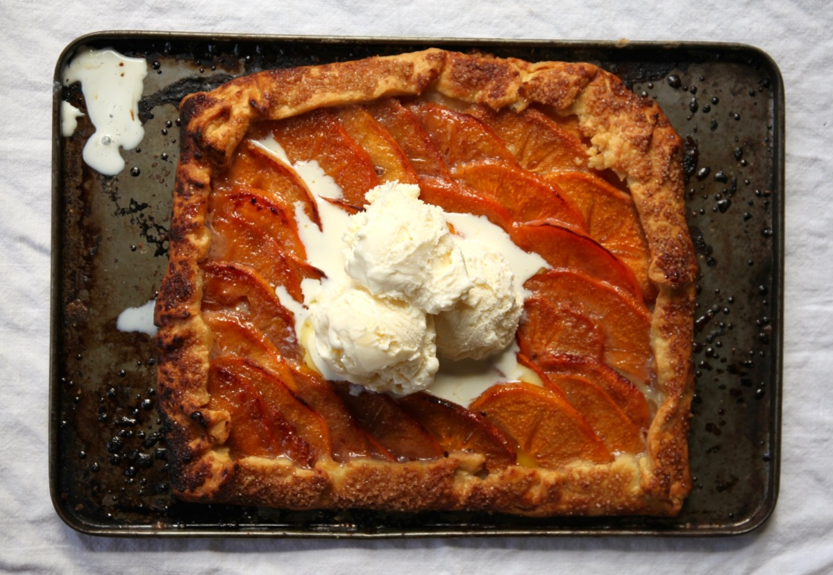 Spiced Persimmon Galette